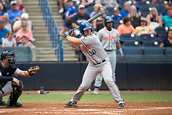 August 10, 2017 - Florida, U.S. - CHARLIE KAIJO   |   Times.St. Lucie Mets designated hitter Peter Alonso (20) contacts the ball during a game against the Tampa Yankees at Steinbrenner Field Tampa, Fla. on Thursday, August 10, 2017. (Credit Image: © Charlie Kaijo/Tampa Bay Times via ZUMA Wire)
