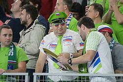 Fan of Slovenia during handball match between National teams of Slovenia and Denmark on Day 2 in Main Round of Men's EHF EURO 2018, on January 19, 2018 in Arena Varazdin, Varazdin, Croatia. Photo by Mario Horvat / Sportida