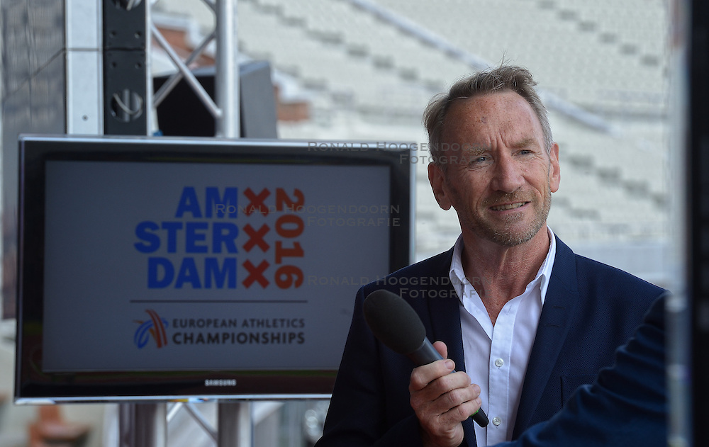 "06-07-2015 NED: Presentatie EK Atletiek ""One year to go"", Amsterdam<br /> Kick off  EK Atletiek 2016 in het Olympische stadion Amsterdam. Over 1 jaar zal het EK Atletiek plaats vinden / Ad Roskam"