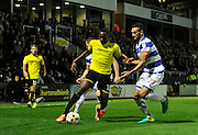 Burton's Lucas Akins (10) during the EFL Sky Bet Championship match between Burton Albion and Queens Park Rangers at the Pirelli Stadium, Burton upon Trent, England on 27 September 2016. Photo by Richard Holmes.