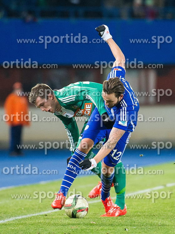24.01.2015, Ernst Happel Stadion, Wien, AUT, FS Vorbereitung, Fußball Testspiel, SK Rapid Wien vs FC Schalke 04, im Bild Deni Alar, (SK Rapid Wien, #33) und Marco Höger (FC Schalke 04) // during a international football frindly match between SK Rapid Vienna and FC Schalke 04 at the Ernst Happel Stadium, Vienna, Austria on 2015/01/24. EXPA Pictures © 2015, PhotoCredit: EXPA/ Michael Gruber