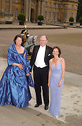 Baroness Susanne von Maltzahn, Bruno Schroder and Christianne de Ferranti, Ball at Blenheim Palace in aid of the Red Cross, Woodstock, 26 June 2004. SUPPLIED FOR ONE-TIME USE ONLY-DO NOT ARCHIVE. © Copyright Photograph by Dafydd Jones 66 Stockwell Park Rd. London SW9 0DA Tel 020 7733 0108 www.dafjones.com