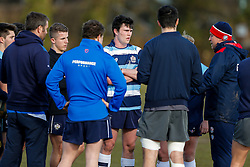 Bristol Rugby Academy players join in during a session at Bristol Rugby's training facility ahead of the U20 Six Nations match versus Wales - Mandatory byline: Rogan Thomson/JMP - 08/03/2016 - RUGBY UNION - Clifton Rugby Club - Bristol, England - England Under 20s Training at Bristol Rugby.