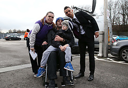 Millwall's Ryan Fredericks with fans after his loan move from Spurs - Photo mandatory by-line: Robin White/JMP - Tel: Mobile: 07966 386802 18/01/2014 - SPORT - FOOTBALL - The Den - Millwall - Millwall v Ipswich Town - Sky Bet Championship