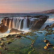 Victoria Beach Rock Shelf Waterfall - Sunset