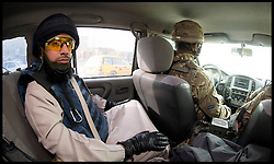 Imam Asim Hafiz on his way to Camp Qargha in Kabul to meet Afghan Army Troops, 19th January 2014 . Picture by Andrew Parsons / Parsons Media Ltd