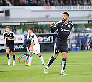 Dundee's Kane Hemmings celebrates after scoring the equaliser  - Dunfermline Athletic v Dundee - Scottish League Cup at East End Park<br /> <br />  - © David Young - www.davidyoungphoto.co.uk - email: davidyoungphoto@gmail.com