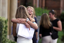 A - Level results at Chelmsford County High School for Girls. Lorraine Molyneux 18, 3A's and 1B, and a place at dental school, Julie Martindall 18, 4A's and 1C and a place a Oxford, August 17, 2000. Photo by Andrew Parsons/i-Images..