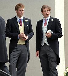HRH PRINCE HARRY at the wedding of Nicholas Van Cutsem to Alice Hadden-Paton at The Guards Chapel, Wellington Barracks, London on 14th August 2009.