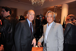 Left to right, FRANCESCO TRAPANI CEO of Bulgari and ANISH KAPOOR at a party to celebrate the B.zero 1 design by Anish Kapoor held at Bulgari, 168 New Bond Street, London n 2nd June 2010.