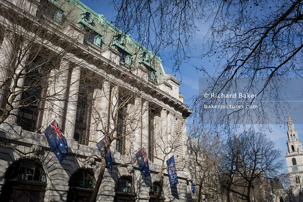 An exterior of Australia House, the Australian High Commission on the Strand, on 16th february 2018, in London, England, An exterior of Australia House, the Australian High Commission on the Strand, on 16th February 2018, in London, England.