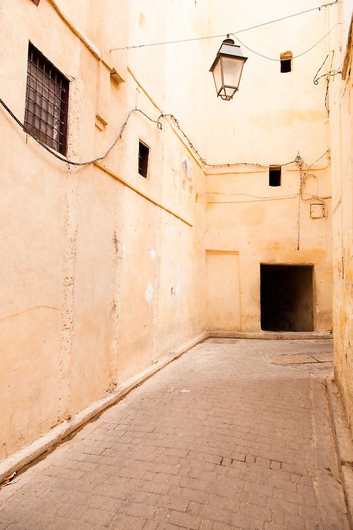 Medina street, Fez, Morocco.