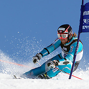 Markus Nilsen, Norway, in action during the Men's Giant Slalom competition at Coronet Peak, New Zealand during the Winter Games. Queenstown, New Zealand, 22nd August 2011. Photo Tim Clayton