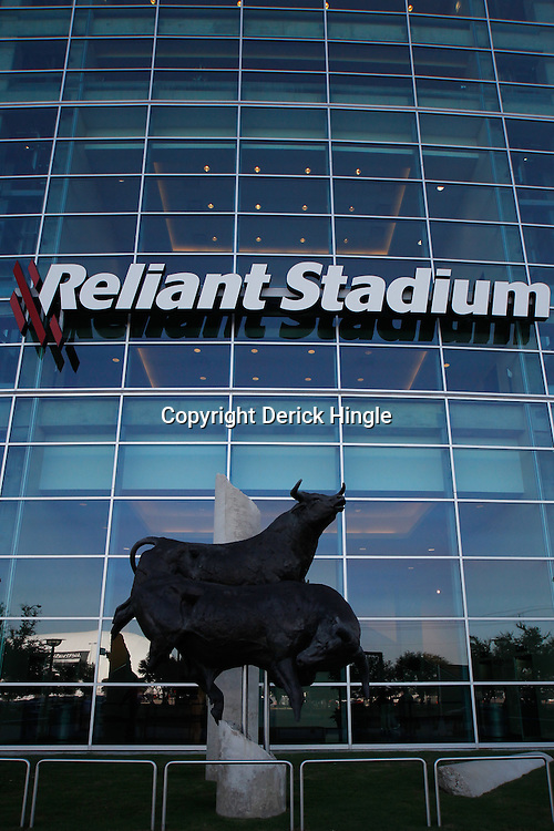 October 10, 2010; Houston, TX USA; A general view outside prior to kickoff of a game between the Houston Texans and the New York Giants at Reliant Stadium. Mandatory Credit: Derick E. Hingle