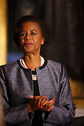 Dr Mamphela Ramphele, who will now run as the Democratic Alliance Presidential Candidate against the incumbent President Jacob Zuma of the ANC. Dr Ramphele started her own political party Agang SA in February 2013 but announced she will be running for the DA on the 28th January 2014. South Africa's elections are scheduled for April 2014 and mark the countries 20th year of democracy. Dr Ramphele was photographed exclusively on a recent trip to London (21st Jan) to speak about her visions and values for South Africa. 21st January 2014. ©Photos: Zute Lightfoot