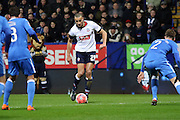Darren Pratley attacks during the The FA Cup Third Round Replay match between Bolton Wanderers and Eastleigh at the Macron Stadium, Bolton, England on 19 January 2016. Photo by Pete Burns.