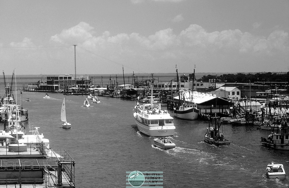 Texes Gulf Coast scenes from Kemah and Seabrook - past and present