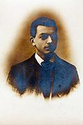 silver oxidation on a vintage portrait image