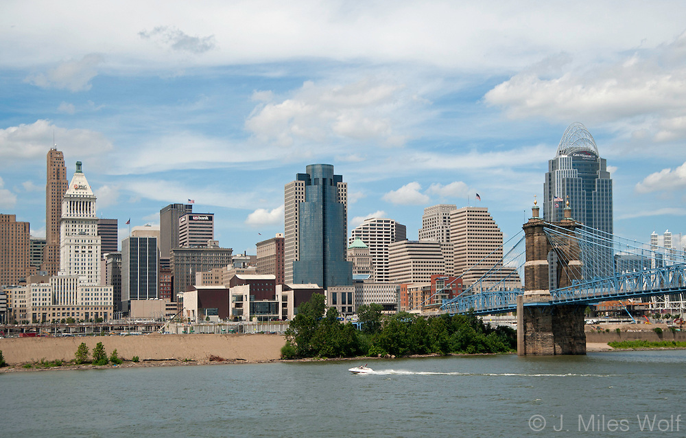 Ohio River Cincinnati Skyline