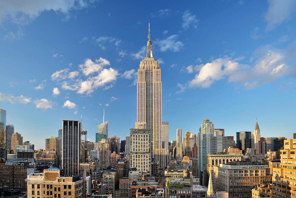 View of Midtown Manhattan with Empire State Building, New York, USA