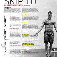 An image of Andy Balha that appeared in the CrossFit Magazine Sweat RX