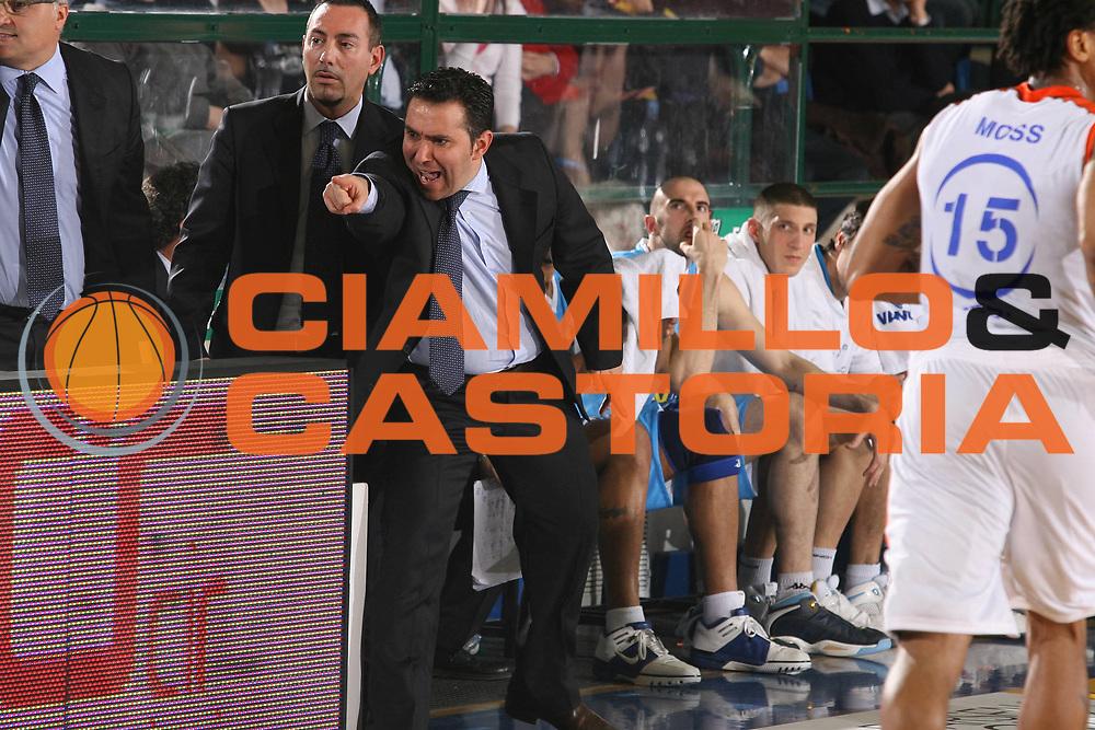 DESCRIZIONE : Ferrara Lega A2 2007-08 Final Four Coppa Italia Vanoli Soresina Fileni Jesi<br /> GIOCATORE : Stefano Cioppi<br /> SQUADRA : Vanoli Soresina<br /> EVENTO : Campionato Lega A2 2007-2008 <br /> GARA : Vanoli Soresina Fileni Jesi<br /> DATA : 01/03/2008 <br /> CATEGORIA : Delusione<br /> SPORT : Pallacanestro <br /> AUTORE : Agenzia Ciamillo-Castoria/M.Marchi