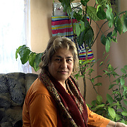 Sali Ibrahim a roma poetess living in Fakulteta Mahala roma ghetto in Sofia, Bulgaria