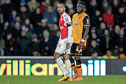Theo Walcott (Arsenal) during the The FA Cup fifth round match between Hull City and Arsenal at the KC Stadium, Kingston upon Hull, England on 8 March 2016. Photo by Mark P Doherty.
