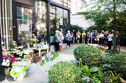 August 28, 2017 - Diest, BELGIUM - Illustration picture taken during a remembrance service for the woman who was murdered last week in Diest, Monday 28 August 2017 in Diest. A servant of the Diest ACV service center was shot during work. BELGA PHOTO JASPER JACOBS (Credit Image: © Jasper Jacobs/Belga via ZUMA Press)