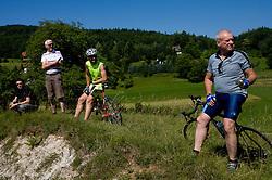 Fans at Trescak at 2nd stage of Tour de Slovenie 2009 from Kamnik to Ljubljana, 146 km, on June 19 2009, Slovenia. (Photo by Vid Ponikvar / Sportida)
