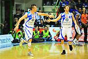 DESCRIZIONE : Sassari Lega A 2012-13 Dinamo Sassari Lenovo Cant&ugrave; Quarti di finale Play Off gara 1<br /> GIOCATORE : Sani Becirovic Travis Diener<br /> CATEGORIA : Esultanza<br /> SQUADRA : Dinamo Sassari<br /> EVENTO : Campionato Lega A 2012-2013 Quarti di finale Play Off gara 1<br /> GARA : Dinamo Sassari Lenovo Cant&ugrave; Quarti di finale Play Off gara 1<br /> DATA : 09/05/2013<br /> SPORT : Pallacanestro <br /> AUTORE : Agenzia Ciamillo-Castoria/M.Turrini<br /> Galleria : Lega Basket A 2012-2013  <br /> Fotonotizia : Sassari Lega A 2012-13 Dinamo Sassari Lenovo Cant&ugrave; Play Off Gara 1<br /> Predefinita :