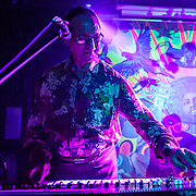 WASHINGTON, DC - August 7th, 2014 - Indian electronic music pioneer Charanjit Singh performs songs from his seminal album, Ten Ragas to a Disco Beat, at Tropicalia in Washington, D.C. (Photo by Kyle Gustafson / For The Washington Post)