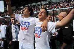 16-05-2010 VOETBAL: FC UTRECHT - RODA JC: UTRECHT<br /> FC Utrecht verslaat Roda in de finale van de Play-offs met 4-1 en gaat Europa in / Gianluca Nijholt en Dries Mertens<br /> ©2010-WWW.FOTOHOOGENDOORN.NL