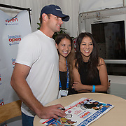 August 21, 2014, New Haven, CT:<br /> Andy Roddick poses for a photograph at the Legends Party during the Men's Legends Event on day seven of the 2014 Connecticut Open at the Yale University Tennis Center in New Haven, Connecticut Thursday, August 21, 2014.<br /> (Photo by Billie Weiss/Connecticut Open)