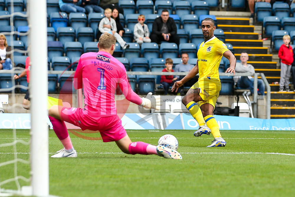 Stefan Payne of Bristol Rovers shoots at goal - Mandatory by-line: Robbie Stephenson/JMP - 18/08/2018 - FOOTBALL - Adam's Park - High Wycombe, England - Wycombe Wanderers v Bristol Rovers - Sky Bet League One