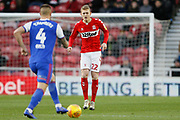 Middlesbrough midfielder George Saville (22)  during the EFL Sky Bet Championship match between Middlesbrough and Ipswich Town at the Riverside Stadium, Middlesbrough, England on 29 December 2018.
