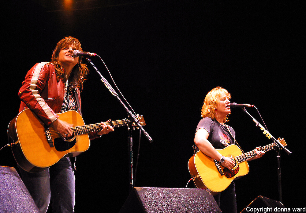 The Indigo Girls perform at  Central Park SummerStage on October 1, 2003.