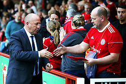 Accrington Stanley manager John Coleman shakes hands with fans - Mandatory by-line: Matt McNulty/JMP - 22/08/2017 - FOOTBALL - Wham Stadium - Accrington, England - Accrington Stanley v West Bromwich Albion - Carabao Cup - Second Round