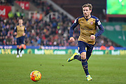 Arsenal defender Nacho Monreal  during the Barclays Premier League match between Stoke City and Arsenal at the Britannia Stadium, Stoke-on-Trent, England on 17 January 2016. Photo by Simon Davies.