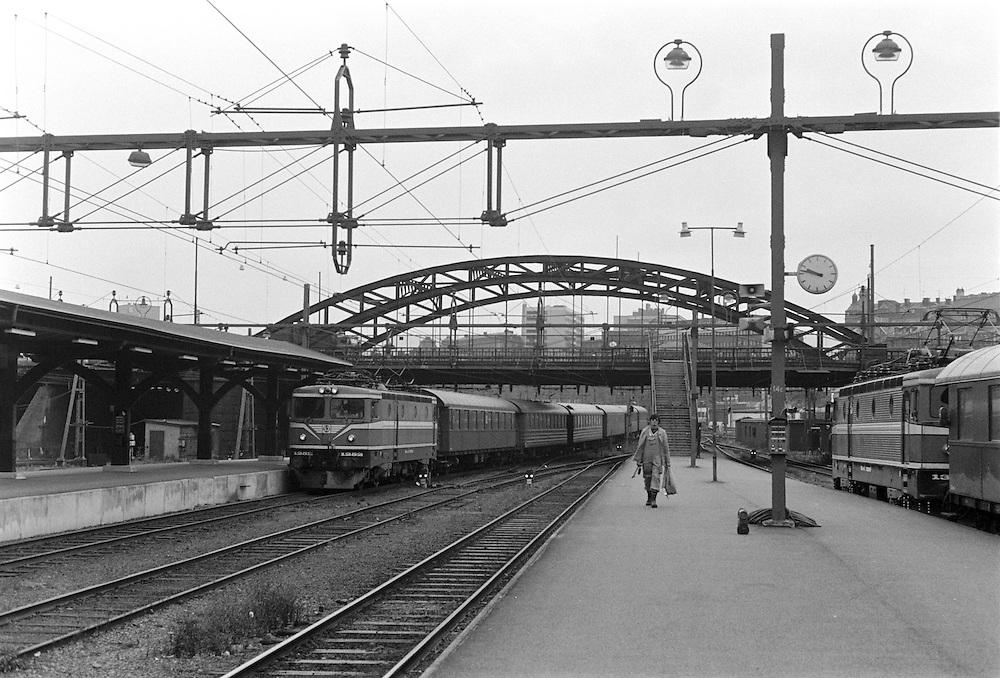 Stockholm Central med gamla Kungsbron. 1984.
