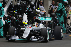 Formel 1: GP von Mexiko 2016 - Rennen in Mexiko-Stadt / 301016<br /> <br /> ***Lewis Hamilton (GBR) Mercedes AMG F1 W07 Hybrid makes a pit stop.<br /> 30.10.2016. Formula 1 World Championship, Rd 19, Mexican Grand Prix, Mexico City, Mexico, Race Day.<br /> Copyright: Moy / XPB Images / action press ***
