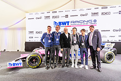 17.02.2020, BWT Headquarter, Mondsee, AUT, FIA, Formel 1, Racing Point Auto Präsentation, im Bild Daniel Andre Tande (NOR), Johann Andre Forfang (NOR), Niklas Schauffer, Andreas Weissenbacher (BWT), Ryoyu Kobayashi (JPN), Junshiro Kobayashi (JPN), Junshiro Kobayashi (JPN), // during the FIA formula 1 car presentation of Racing Point at the BWT Headquarter in Mondsee, Austria on 2020/02/17. EXPA Pictures © 2020, PhotoCredit: EXPA/ Johann Groder