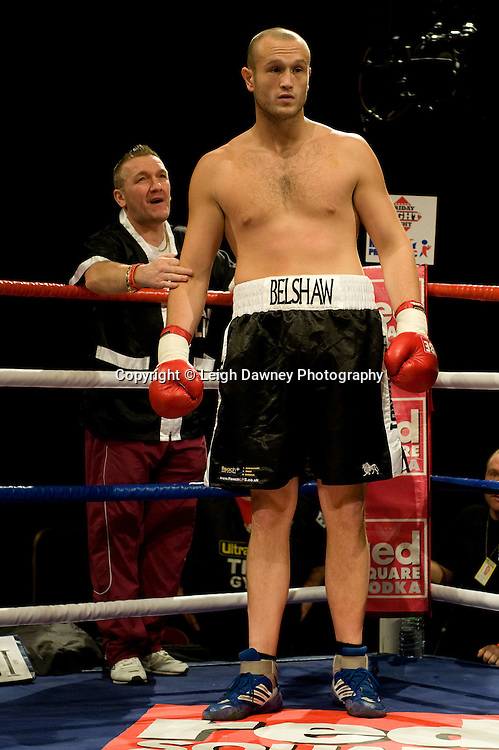 Larry Olubamiwo defeats Scott Belshaw at Brentwood Centre 22nd January 2010, Frank Maloney Promotions,Credit: © Leigh Dawney Photography