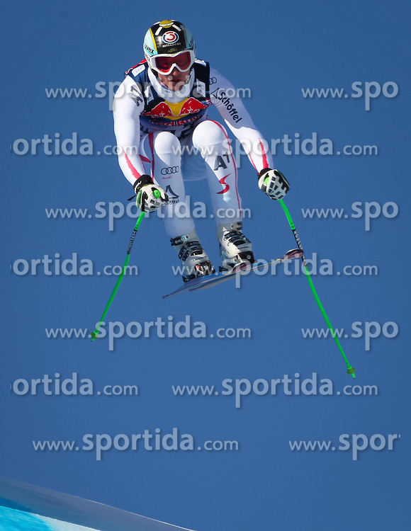 26.01.2013, Streif, Kitzbuehel, AUT, FIS Weltcup Ski Alpin, Abfahrt, Herren, im Bild Hannes Reichelt (AUT) // Hannes Reichelt of Austria in action during mens Downhill of the FIS Ski Alpine World Cup at the Streif course, Kitzbuehel, Austria on 2013/01/26. EXPA Pictures © 2013, PhotoCredit: EXPA/ Sammy Minkof