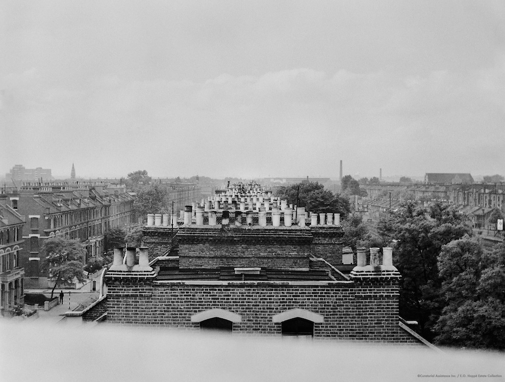 View from Roof of Olympia Garage, London, 1937