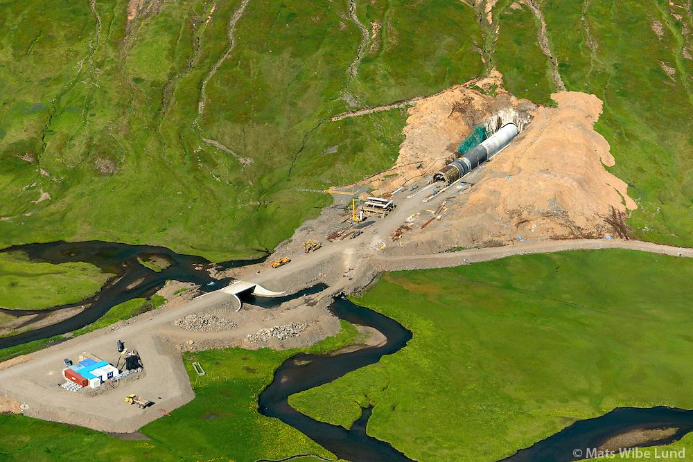 Héðinsfjörður, jarðgangnagerð o.fl. Fjallabyggð áður Siglufjörður / Hedinsfjordur, road and tunnelconstruction, Fjallabygd former Siglufjordur.