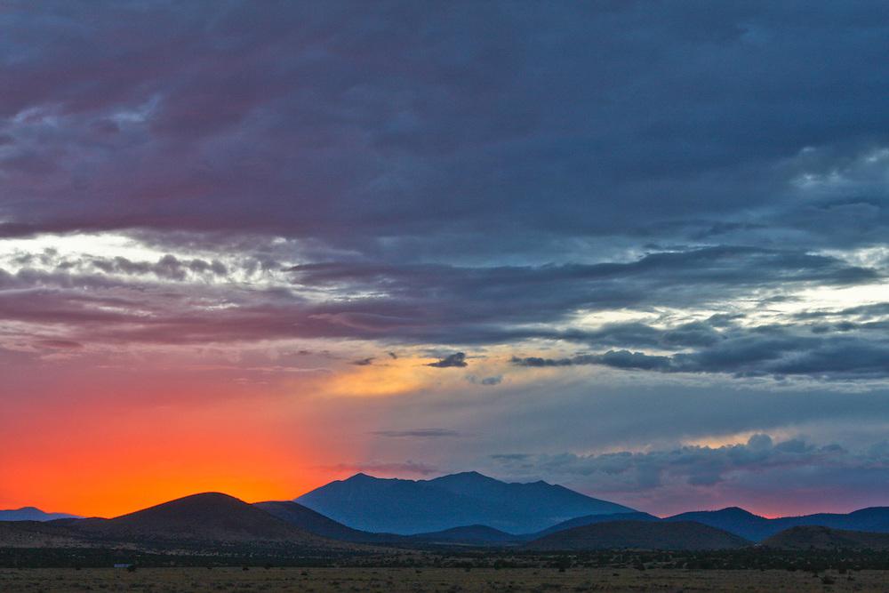 Sunset over San Francisco Peaks, Northern Arizona