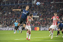 October 4, 2018 - Eindhoven, Netherlands - Ivan Perisic of Inter jumps for the ball during the UEFA Champions League Group B match between PSV Eindhoven and FC Internazionale Milano at Philips Stadium in Eindhoven, Holland on October 3, 2018  (Credit Image: © Andrew Surma/NurPhoto/ZUMA Press)
