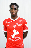 Steven Joseph Monrose of Brest during the Photo shooting of Stade Brestois in Brest on september 22th 2016<br /> Photo : Philippe Le Brech / Icon Sport