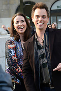 Opnamen van The Bold &amp; The Beautiful op de dam in Amsterdam. / On the set of The Bold &amp; The Beautiful at the dam in Amsterdam.<br /> <br /> Op de foto / On the photo:  Darin Brooks and Ashleigh Brewer